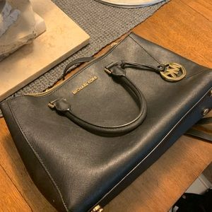 Authentic Michael Kors black leather purse